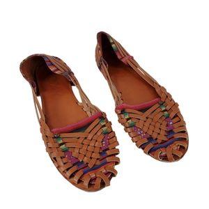 Roxy Meri Huarache Loafers Slip On Faux Leather